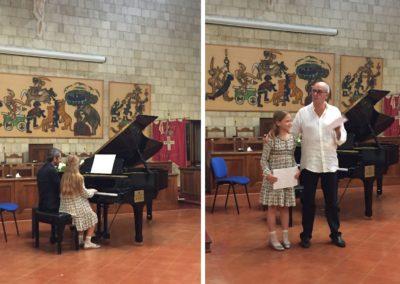 con Magda - allieva dell'Accademia Tarquinia Musica