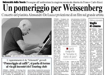 Un pomeriggio per Weissenberg